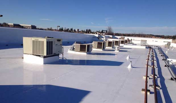 We work on commercial and industrial roofs.