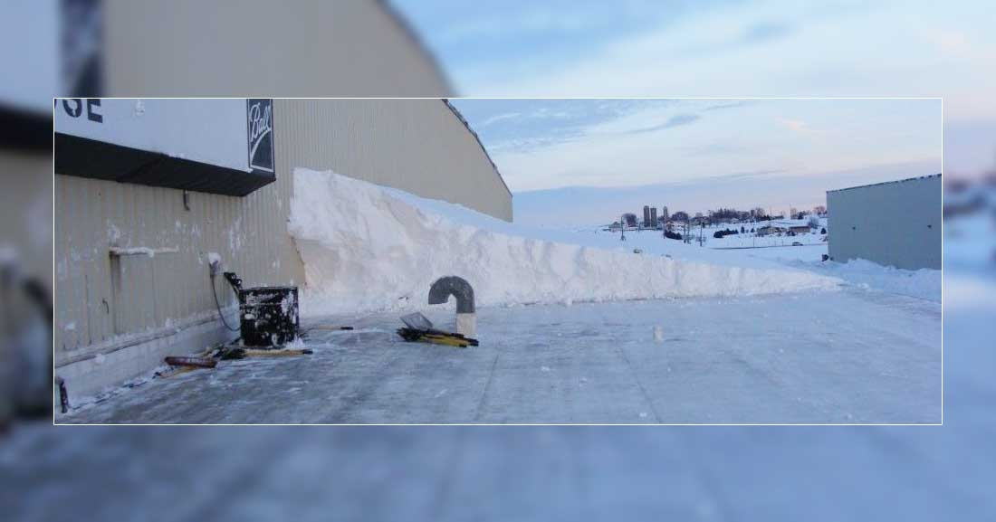 Snow clearing on roofs